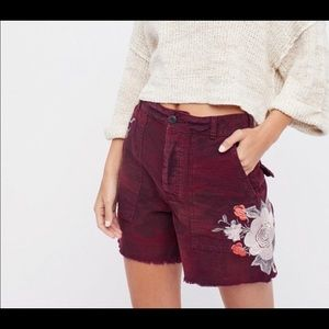 Free People Scout Shorts Maroon